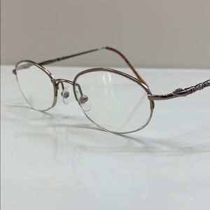 Laura Ashley Womens Eyeglass Frame Half Rim Bronze